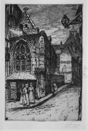 a view of Saint-Etienne des Tonneliers by V. Trowbridge, ab. 1901.