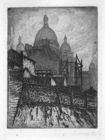 a view of the Sacré Coeur by V. Trowbridge, ab. 1901.